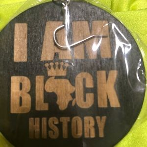 I am black history wooden good and black earrings